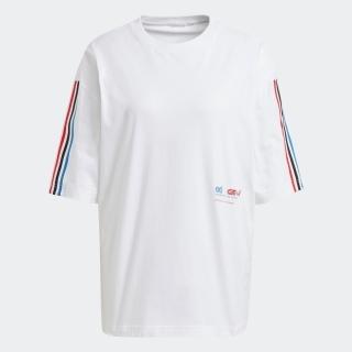 アディカラー トリコロール オーバーサイズ 半袖Tシャツ