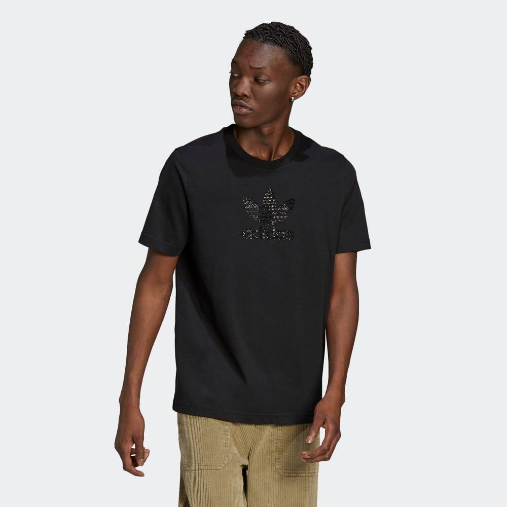 トレフォイル ラインストーン 半袖Tシャツ