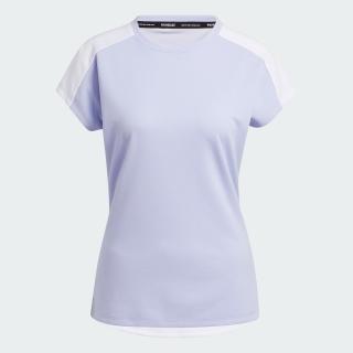 プライムブルー 半袖キャップスリーブクルーネックシャツ