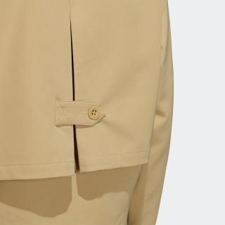 プライムグリーン ストレッチツイル フルジップショートレングスジャケット