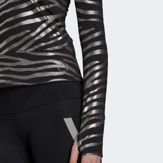 adidas by Stella McCartney トレーニング メタリックプリント長袖Tシャツ