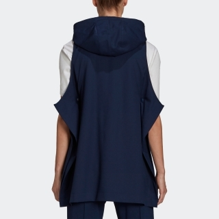 Y-3 CLASSIC REFINED WOOL STRETCH HOODED VEST