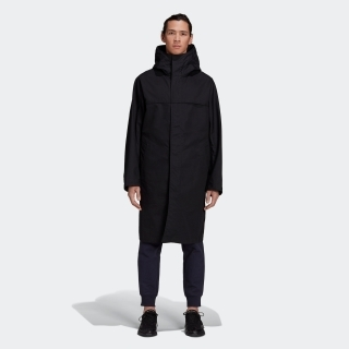 Y-3 CLASSIC BONDED RACER HOODED TRENCH COAT