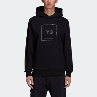 Y-3 SQUARE LABEL GRAPHIC HOODIE