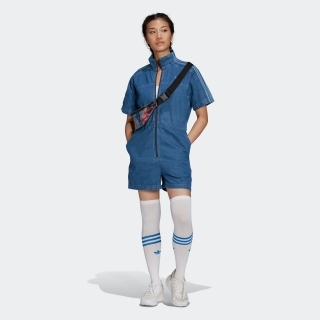 アディカラー デニム ジャンプスーツ