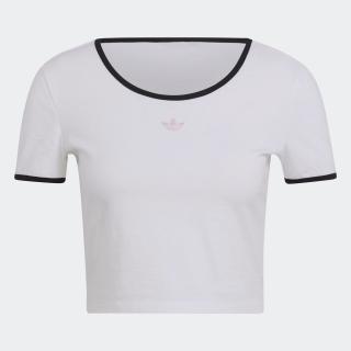 スリム クロップドTシャツ