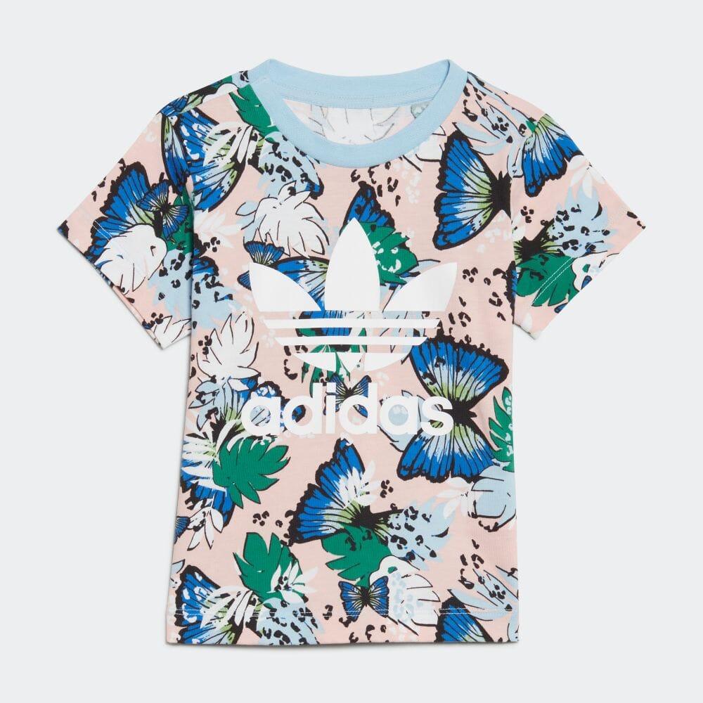 HER Studio London アニマル フラワープリント Tシャツ
