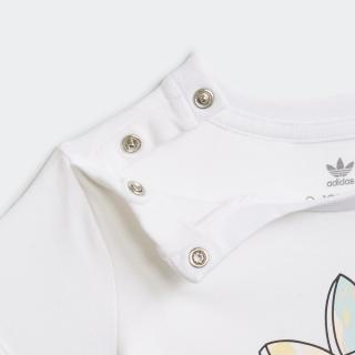 マーブルプリント Tシャツワンピースとタイツのセット