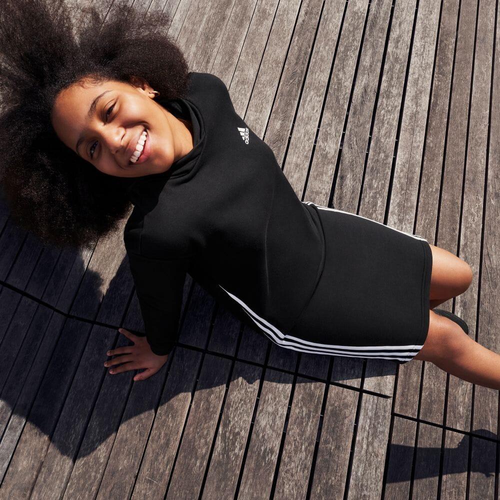 PRIMEGREEN フューチャー アイコン 3ストライプス フーデッドワンピース / Primegreen Future Icons 3-Stripes Hooded Dress