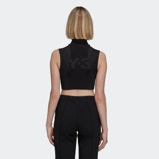 Y-3 CLASSIC SEAMLESS KNIT SPORT TOP (CROPPED)