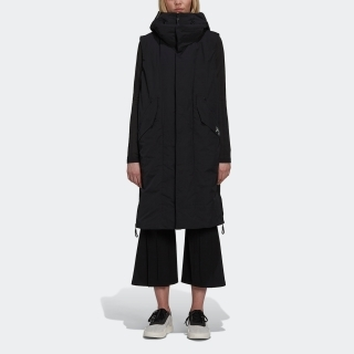 Y-3 SUEDED POLY HOODED VEST