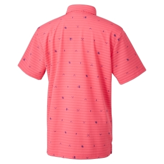 adicross マウンテンモノグラム 半袖 ボタンダウンシャツ【ゴルフ】