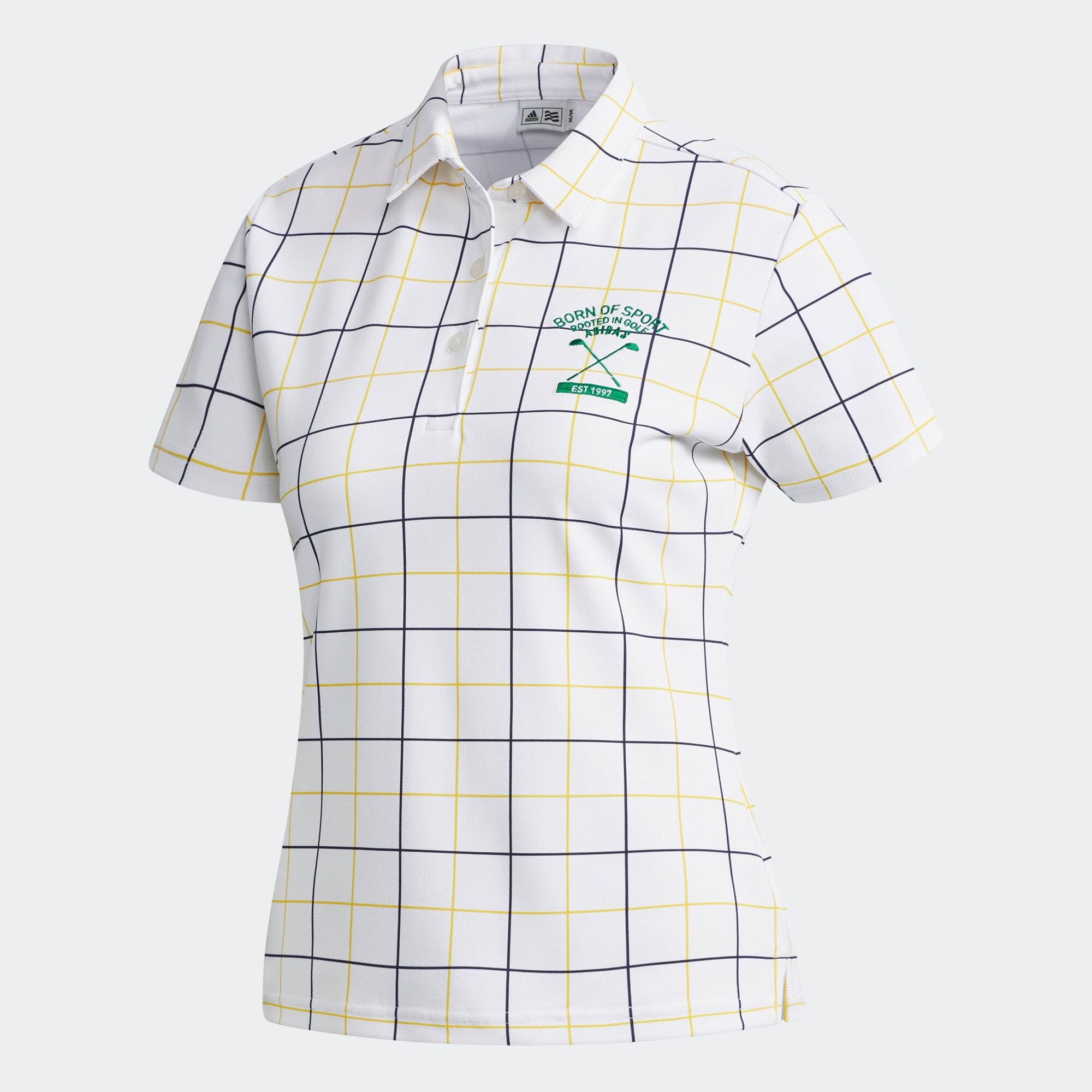adicross チェックプリント 半袖シャツ 【ゴルフ】